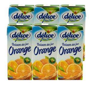 6*20cl Boisson au jus Orange Délice de Fruits