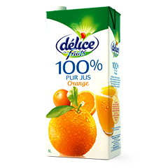 Jus Délice 1L de fruits 100% pur jus orange