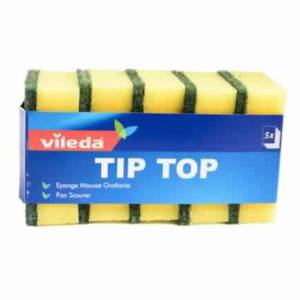 Éponge mousse  Lot de 5 grattante Tip Top Vileda