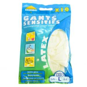 Gants sensitifs Latex Interchangeanbles Rozenbal L