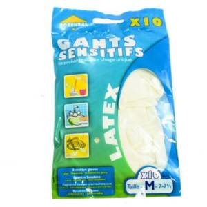Gants sensitifs Latex Interchangeanbles Rozenbal M