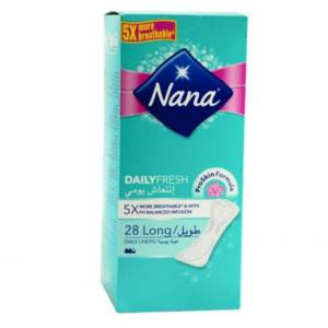Protège slip Daily Fresh Long Nana paquet de 28