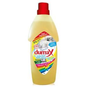Dumax désinfectant Multi-usages et Détacheur linge 1L