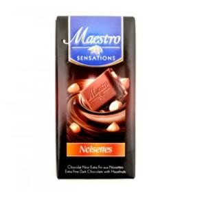 2*Chocolat Noir aux noisettes Maestro 90g