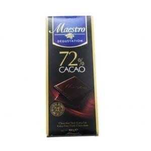Chocolat Noir Extra Fin Maestro Dégustation 72% cacao 100g