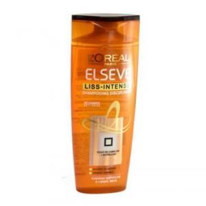 Elsève l'Oréal Shampoing disciplinant Liss Intense pour cheveux difficiles à lisser, secs 250ml