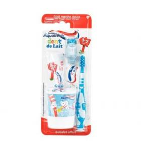 Aquafresh Kit Requin Dent de lait 3-5 ans Goût Menthe douce