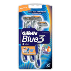 Gillette Blue3 lames 3*Rasoirs