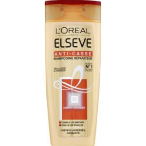 Shampoing Réparateur Elsève l'Oréal Anti-casse Ciment-céramide pour cheveux agressés, cassants 250ml