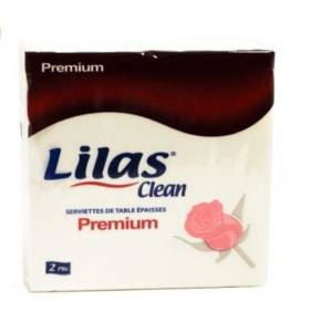 Lilas Clean Premium,45 serviettes de table 30*30