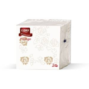    SERVIETTE TABLE LILAS PRESTIGE 23*23 CM 2 PLIS
