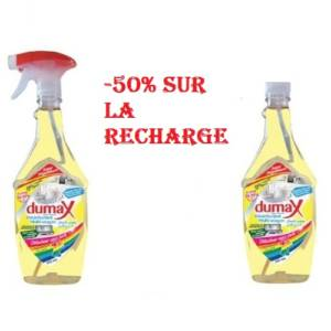 Dumax désinf. multi-usages 500ml + Recharge 500ml