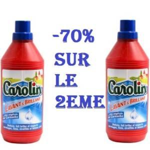 Carolin à la cire de carnauba 1L & -70% sur le deuxième