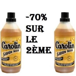 Carolin savon noir 1L & -70% sur le deuxième